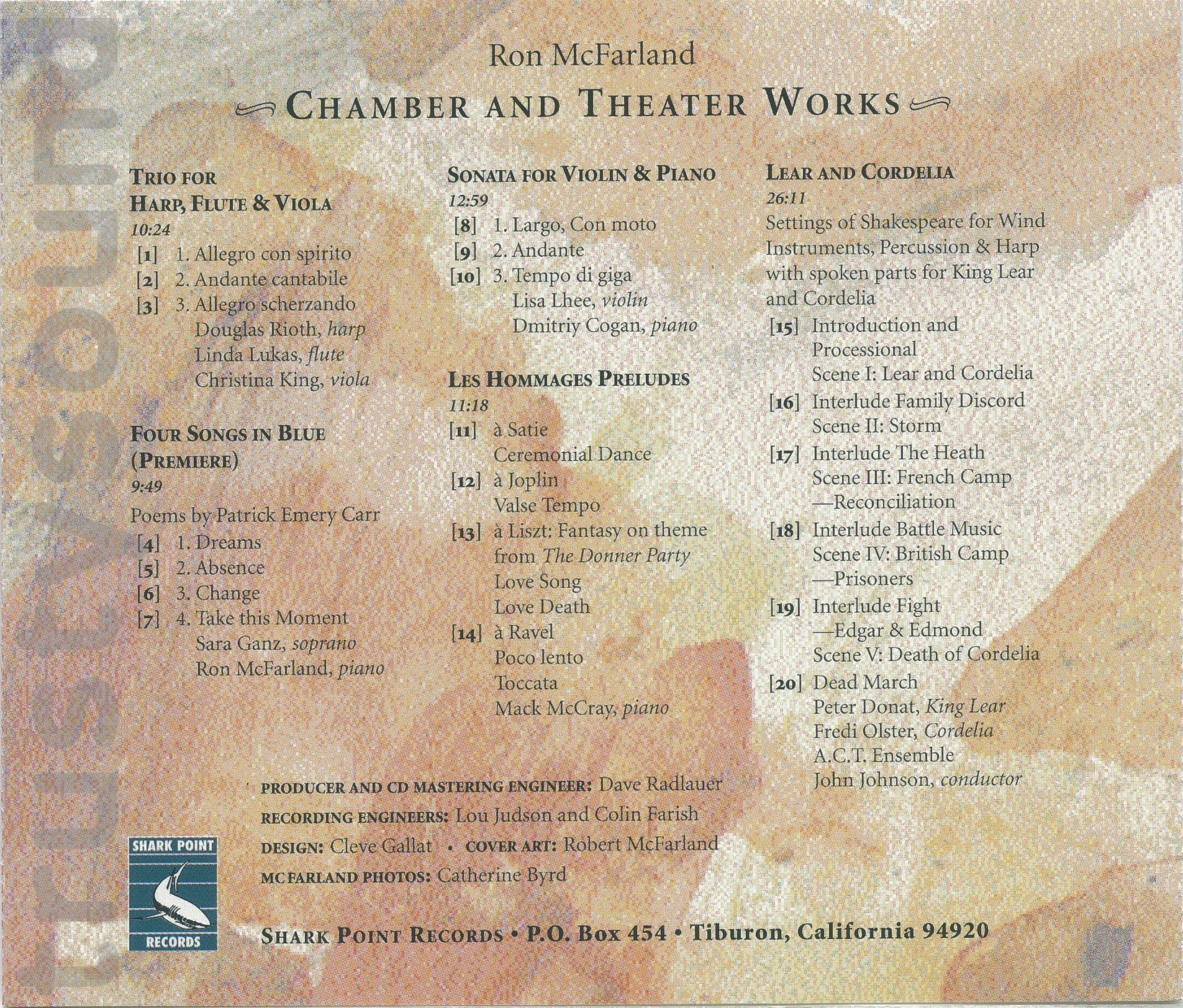 Trustysound: Products: Chamber and Theater Works by Ron