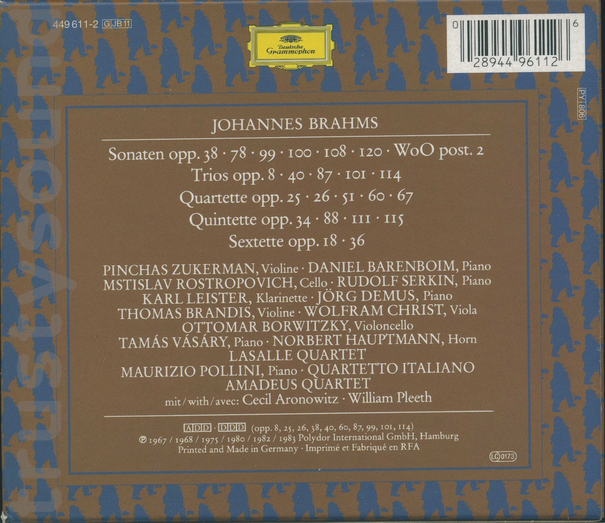 Trustysound: products: complete brahms edition 3 chamber music.